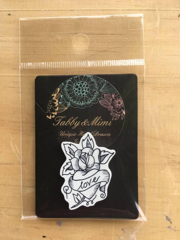 Rose Love illustrated brooch