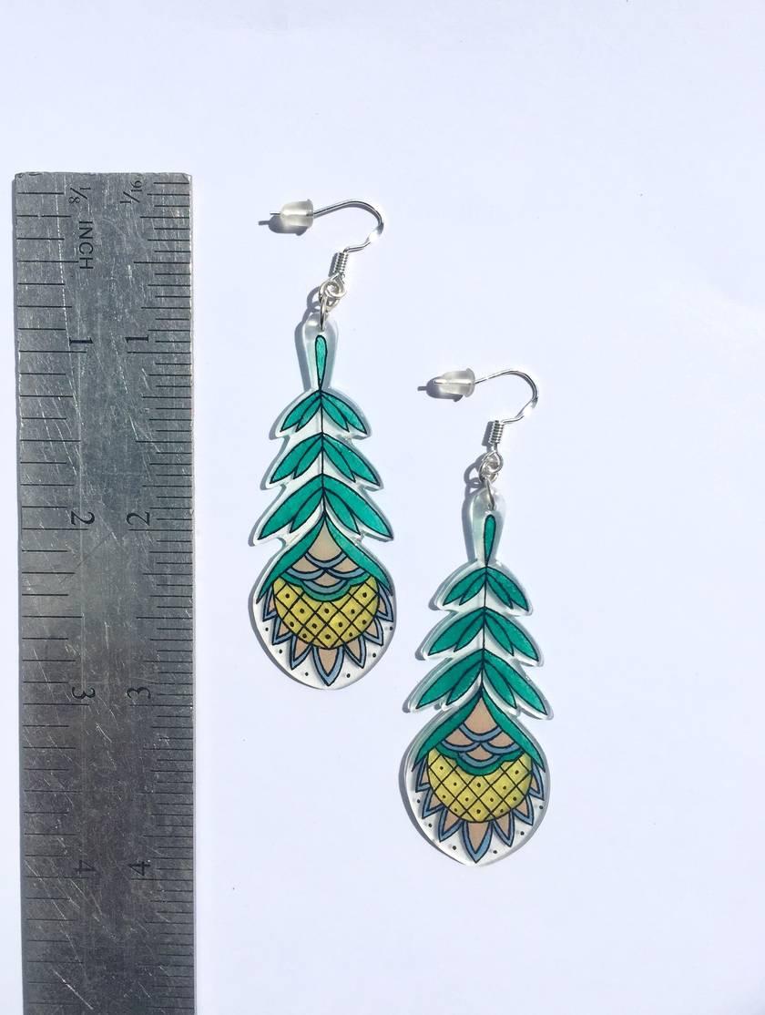 Summer Pineapple Flower Earrings