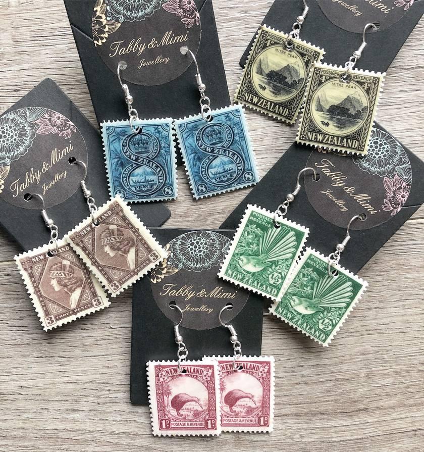 Fantail Stamp Earrings