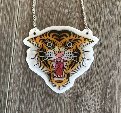 FIERCE. Tiger roaring Neckalce