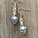 MINI Skull sterling silver earrings