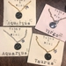Star Sign astrology necklace