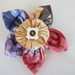 Shabby-chic flower brooch made from Vintage fabric & embellishments