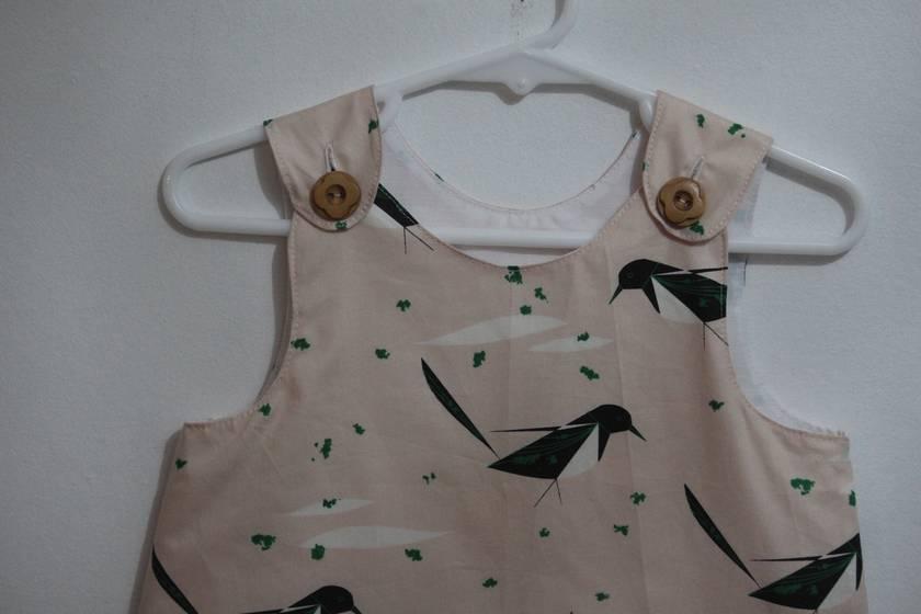 ORGANIC Cotton Birds A-Line Dress 12/18 months