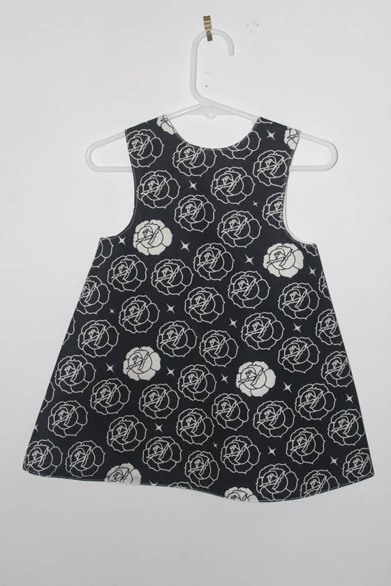 ORGANIC Cotton blue flowers A-Line Dress 3/4 years