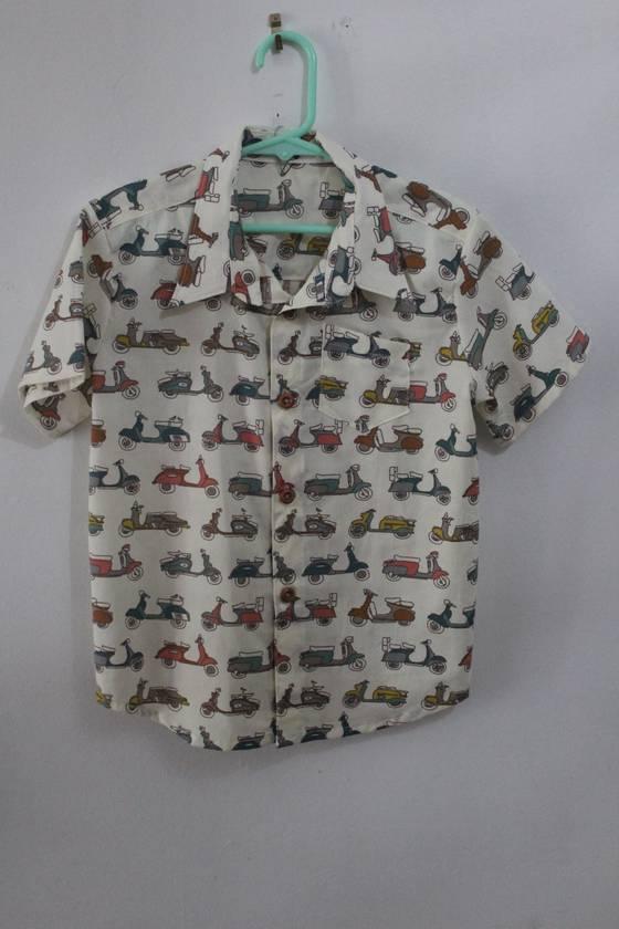 Organic Cotton SCOOTERS Short-sleeved Shirt 18/24 months Handmade in NZ