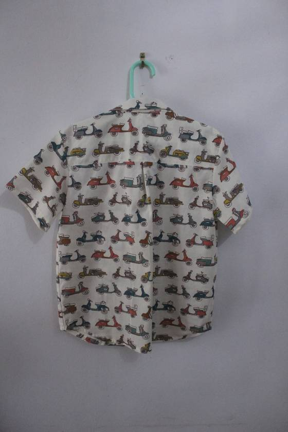Organic Cotton SCOOTERS Short-sleeved Shirt 2 Years Handmade in NZ