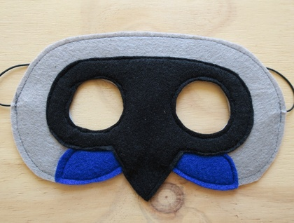 New Zealand Native Bird Mask- Kokako