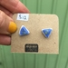 Lovely Lapis Blue Triangles