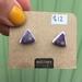 Plum Triangle Earrings