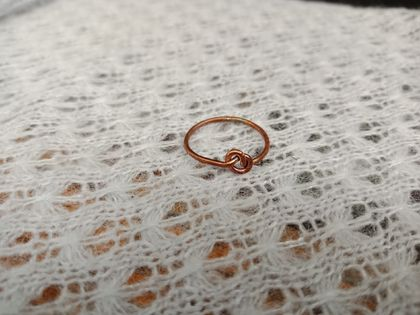 Small copper knot ring