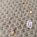 Simple hoop earrings with pearls