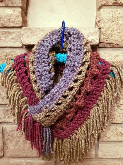 Spiced Cider Crochet Cowl