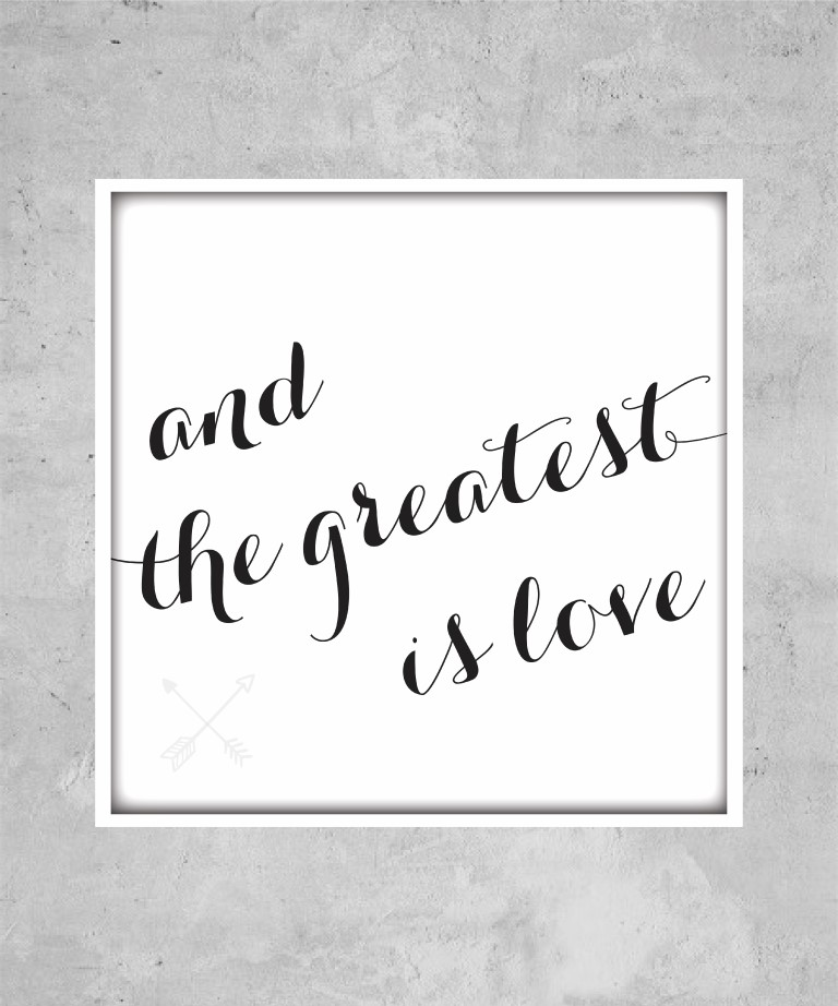 Gold Square Wall Decor : And the greatest is love black gold square poster