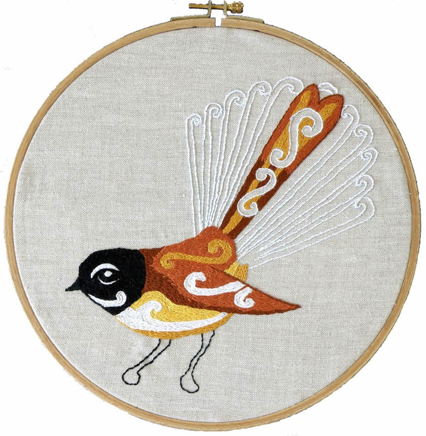 Embroidery pattern - fantail
