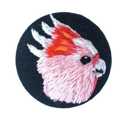 Pink Cockatoo Brooch