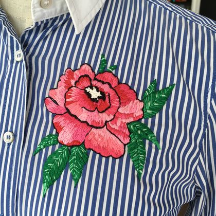 Shirt - hand embroidered