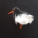 Oyster catcher hand embroidery