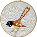 Fantail embroidery kit
