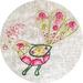 Bee Meets Fantail embroidery kit