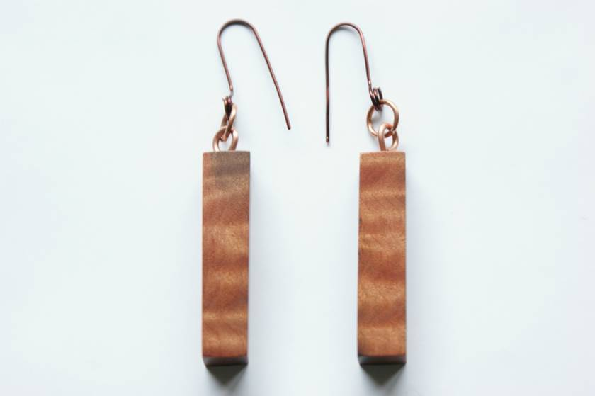 Earrings(Red Beech)
