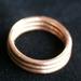 Rustic Rings. Triple ring.