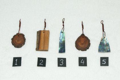 Pendants (Wood and Paua)