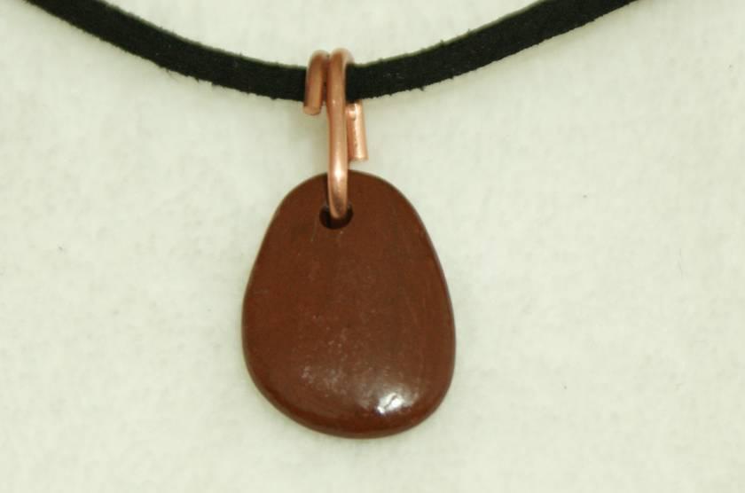 Jasper Pebble Pendant
