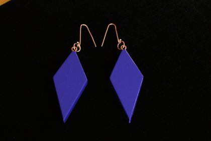 Earrings. Violet Handpainted.