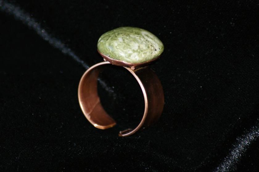 Gemstone (Green Quartzite) Ring