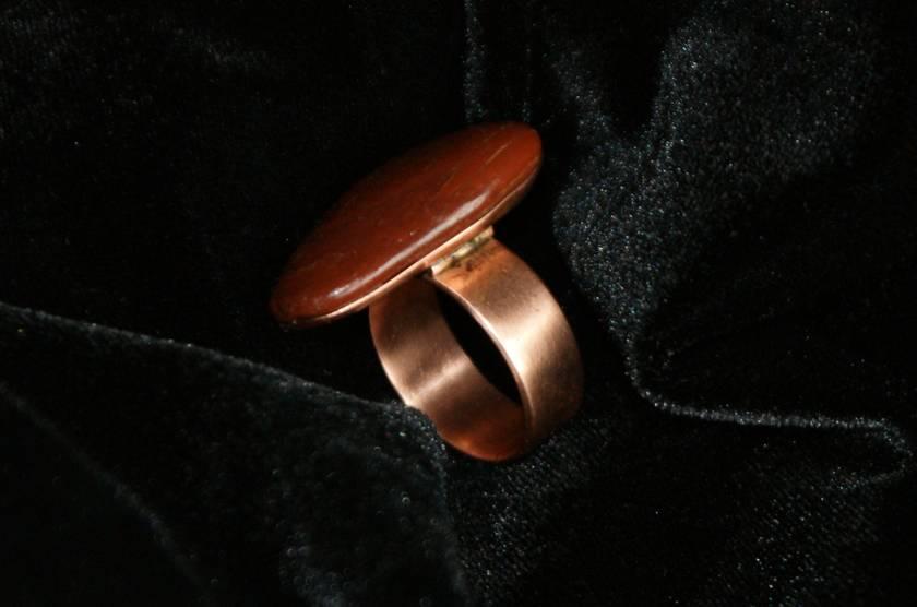 Jasper Copper Ring