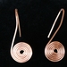 Copper Wire Spiral Earrings