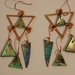 Paua Copper Earrings