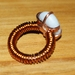 Quartz stone copper ring