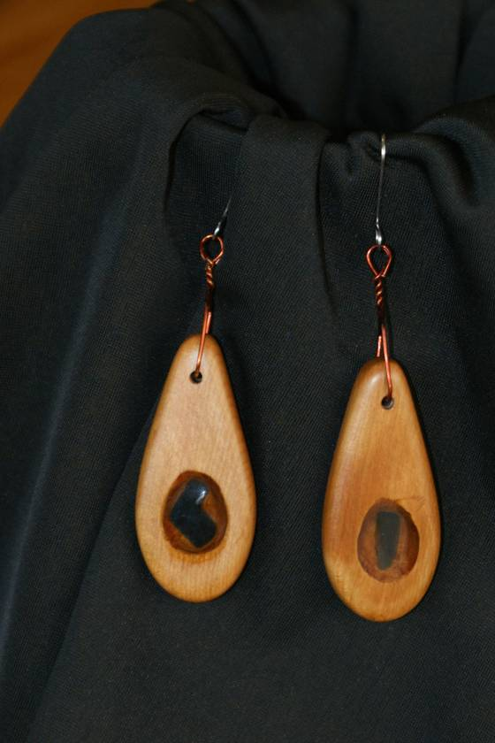 Matai/Seaglass earrings