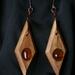 Bottlebrush/Seaglass Earrings