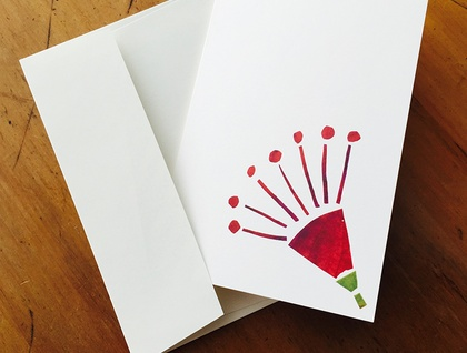 Christmas Card - Small Pohutukawa Flower - New Zealand