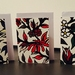 GREETING CARD SET - WILLIAM MORRIS INSPIRED FLOWER PATTERN - SET OF 6 CARDS