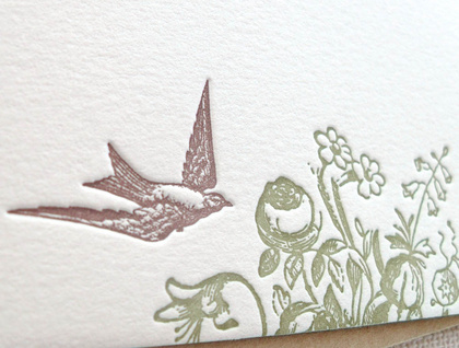 Letterpress Notecards | Spring