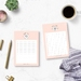 To Do List and Reminders Notepad Set