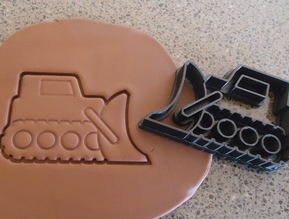 3D Printed Bulldozer Cookie Cutter