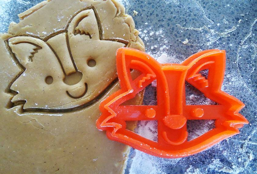 3D Printed Fox Cookie Cutter
