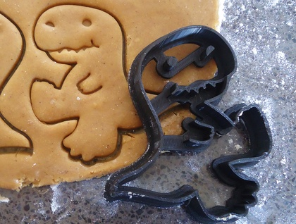 3D Printed Dinosaur Cookie Cutter