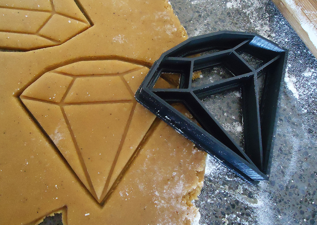 3d Printed Geometric Diamond Cookie Cutter Felt