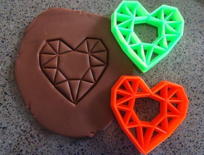 3D Printed Geometric Heart Cookie Cutter