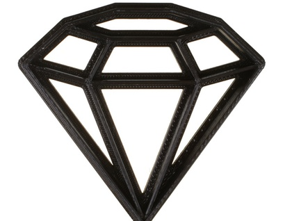 3D Printed Geometric Diamond Cookie Cutter