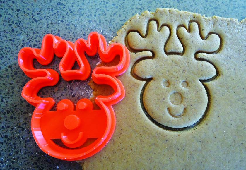 Reindeer 3D Printed Cookie Cutter