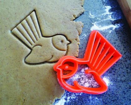 3D Printed Fantail Bird Cookie Cutter
