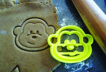 3D Printed Monkey Cookie Cutter