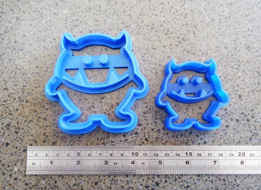Mini 3D Printed Monster Cookie Cutter